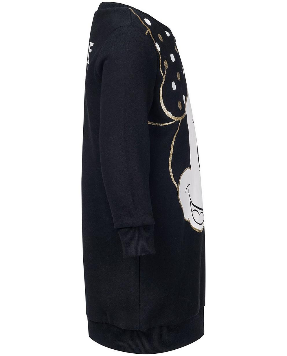 Kleider - Schwarz - Schwarzes Sweatkleid